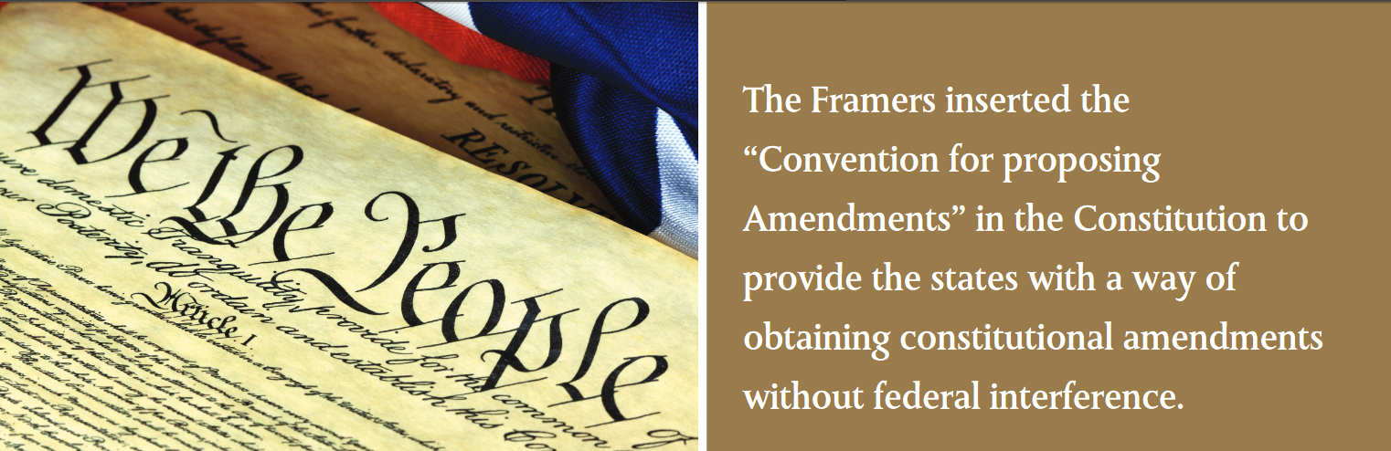 "The Framers inserted the ""Convention for proposing Amendments"" in the Constitution to provide the states with a way of obtaining constitutional amendments without federal interference."