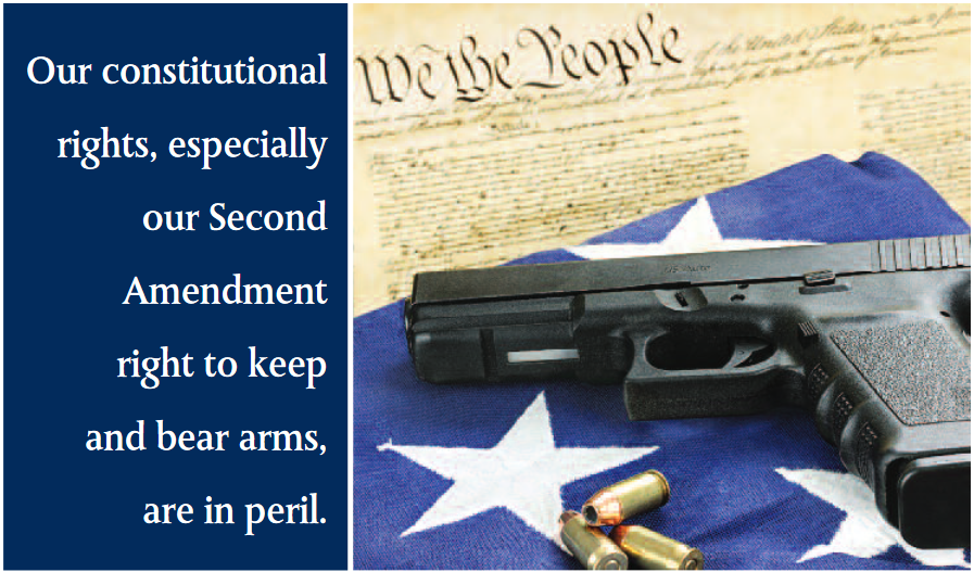 Our constitutional rights, especially our Second Amendment right to keep and bear arms, are in peril.