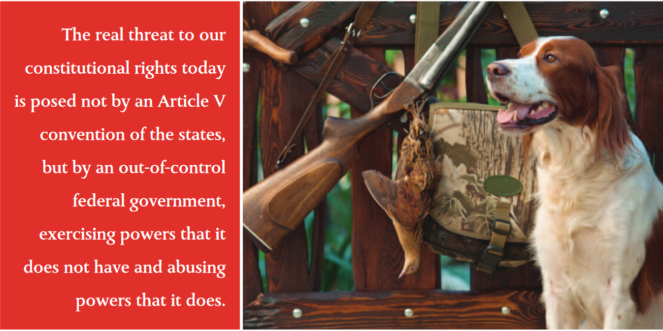 The real threat to our constitutional rights today is posed not by an Article V convention of the states, but by an out-of-control federal government, exercising powers that it does not have and abusing powers that it does.